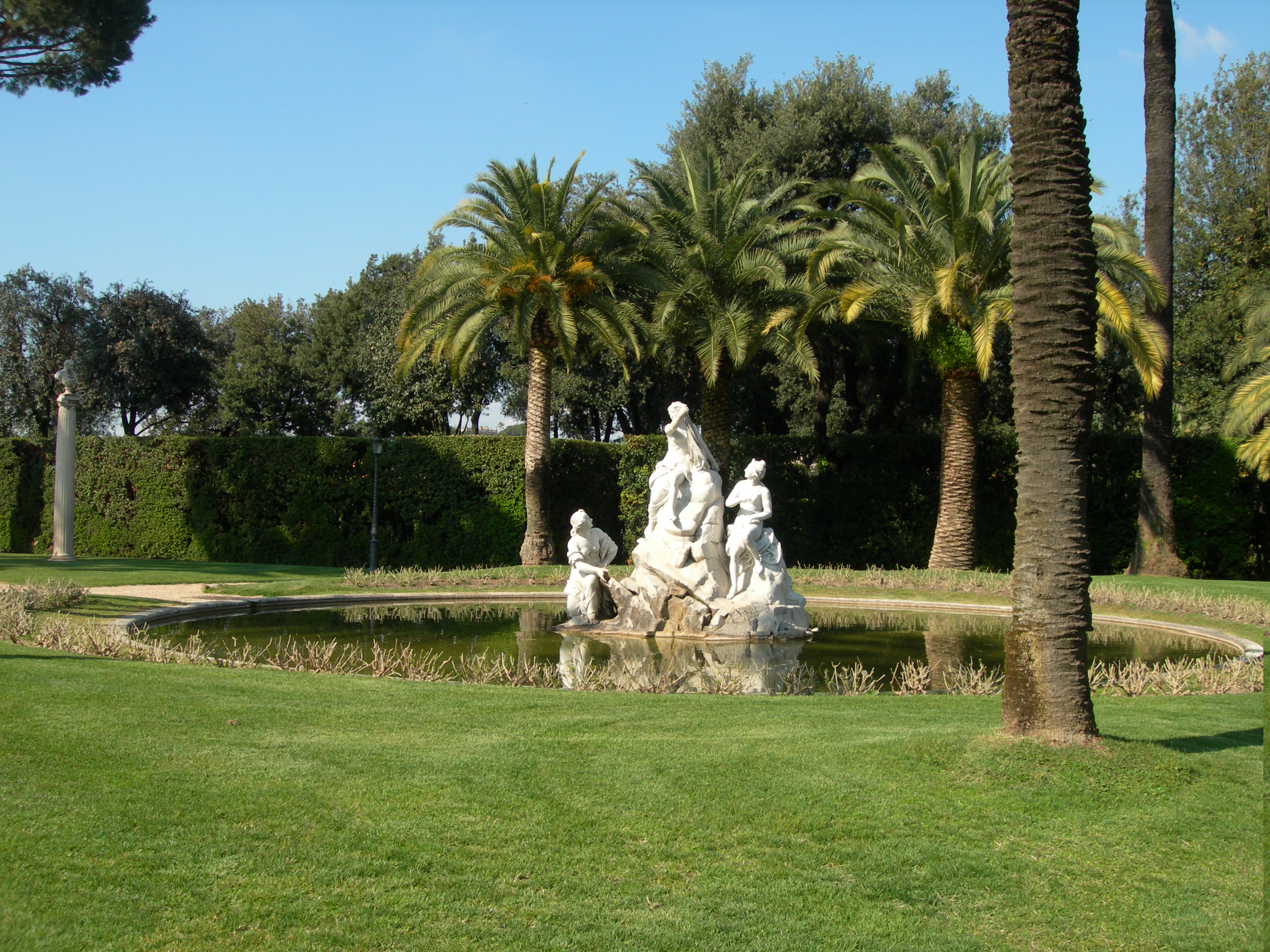 Italian botanical heritage giardini del quirinale for Architetto giardini roma